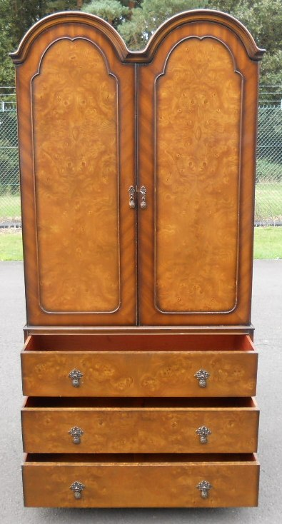 Walnut Dome Top Wardrobe By Maples Amp Co